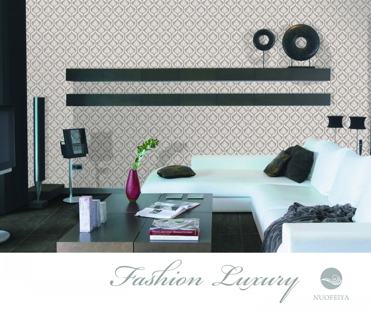 LUXURY non-woven foaming wallpaper